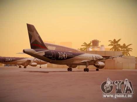 Airbus A320-214 LAN Airlines 100th Plane für GTA San Andreas rechten Ansicht