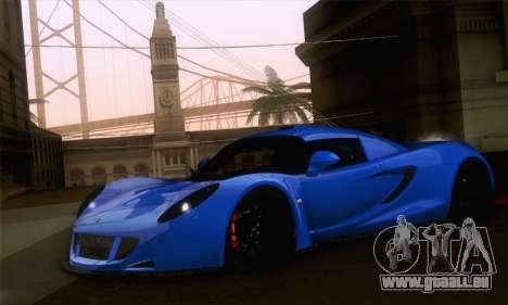 Hennessey Venom GT pour GTA San Andreas laissé vue