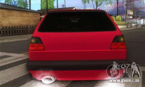 Volkswagen Golf Mk2 Low Life für GTA San Andreas rechten Ansicht