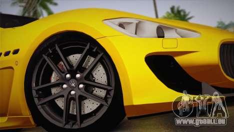 Maserati Gran Turismo MC Stradale pour GTA San Andreas sur la vue arrière gauche