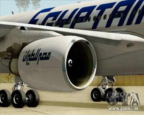 Airbus A330-300 EgyptAir pour GTA San Andreas vue de dessous