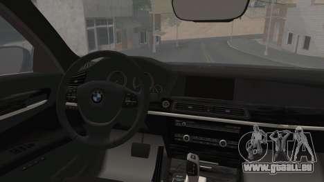 BMW F01 750Li 2009 pour GTA San Andreas laissé vue