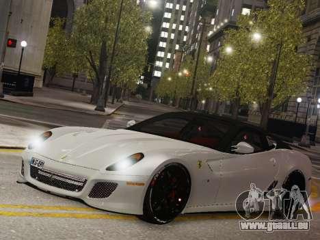 Ferrari 599 GTO pour GTA 4 Vue arrière de la gauche
