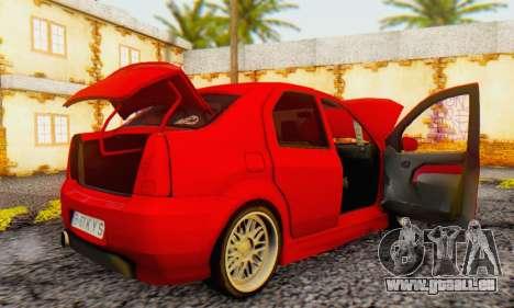 Dacia Logan B-61 pour GTA San Andreas vue arrière