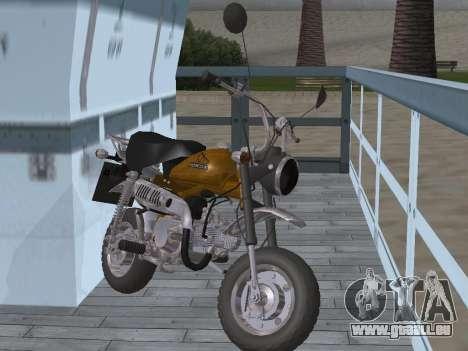 Honda Z50J Monkey für GTA San Andreas Rückansicht