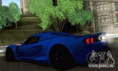 Hennessey Venom GT pour GTA San Andreas sur la vue arrière gauche