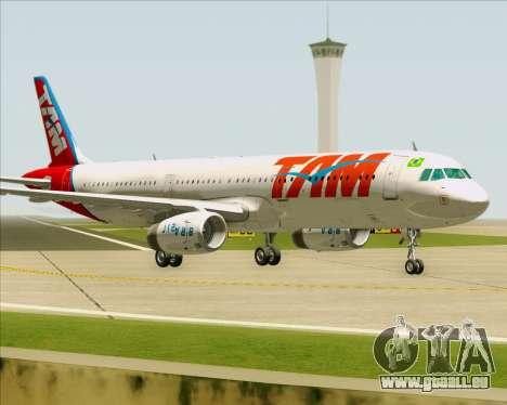 Airbus A321-200 TAM Airlines pour GTA San Andreas laissé vue