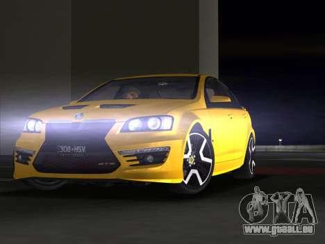 Holden HSV GTS 2011 für GTA Vice City obere Ansicht