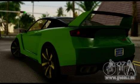 GTA V Elegy RH8 Twin-Turbo (IVF) pour GTA San Andreas laissé vue