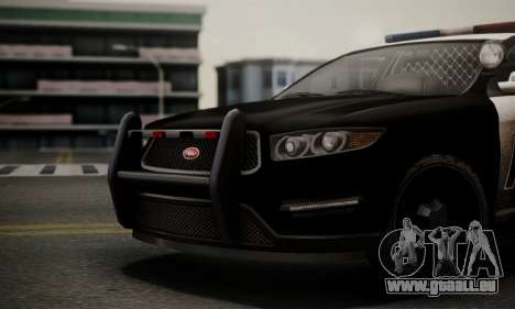 Vapid Police Interceptor from GTA V für GTA San Andreas rechten Ansicht