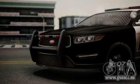 Vapid Police Interceptor from GTA V pour GTA San Andreas vue de droite