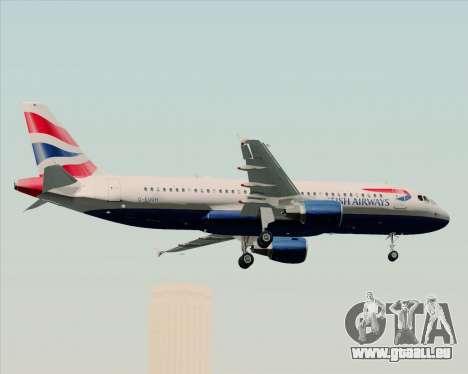 Airbus A320-232 British Airways pour GTA San Andreas vue de dessous