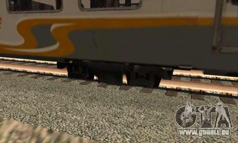 K1 Argo Traincar Indonésien pour GTA San Andreas sur la vue arrière gauche