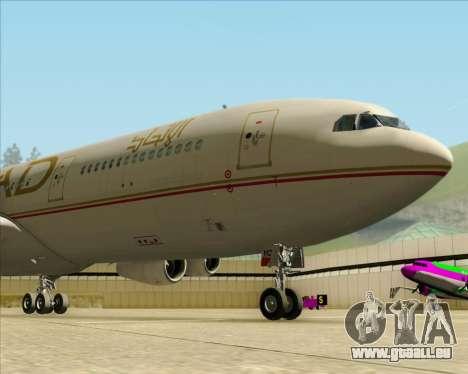 Airbus A340-313 Etihad Airways für GTA San Andreas Innenansicht