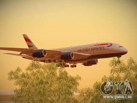 Airbus A380-800 British Airways pour GTA San Andreas vue intérieure