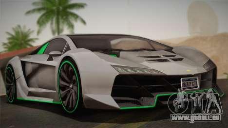 GTA 5 Zentorno für GTA San Andreas Rückansicht