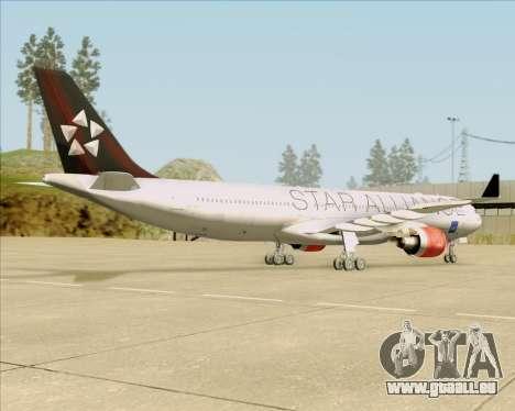 Airbus A330-300 SAS (Star Alliance Livery) für GTA San Andreas Rückansicht
