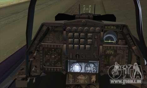 F-16D Block 60 pour GTA San Andreas sur la vue arrière gauche