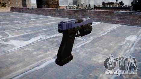 Pistolet Glock 20 tigre bleu pour GTA 4 secondes d'écran