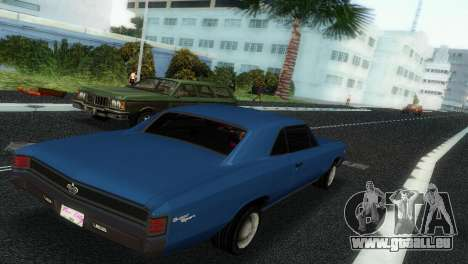 Chevrolet Chevelle SS 1967 pour GTA Vice City vue arrière