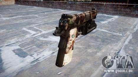 Pistolet Kimber 1911 Zombies pour GTA 4 secondes d'écran