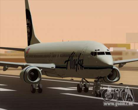 Boeing 737-890 Alaska Airlines für GTA San Andreas linke Ansicht