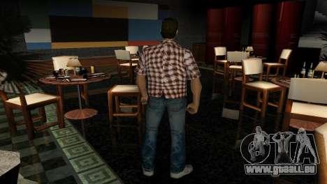Kockas polo - narancs sarga T-Shirt GTA Vice City pour la troisième écran