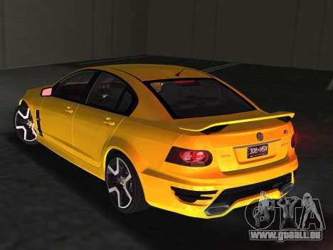Holden HSV GTS 2011 für GTA Vice City Seitenansicht