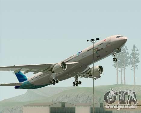 Airbus A330-300 Garuda Indonesia für GTA San Andreas Unteransicht