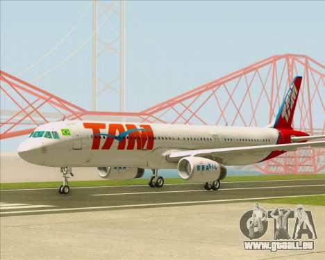 Airbus A321-200 TAM Airlines pour GTA San Andreas vue de côté