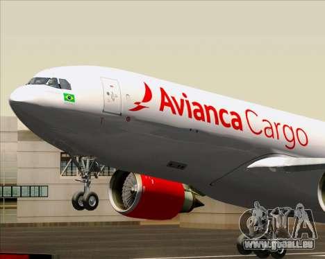 Airbus A330-243F Avianca Cargo für GTA San Andreas Innenansicht