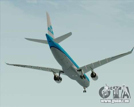 Airbus A330-300 KLM Royal Dutch Airlines pour GTA San Andreas vue de dessus