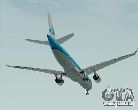 Airbus A330-300 KLM Royal Dutch Airlines für GTA San Andreas obere Ansicht
