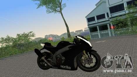 Aprilia RSV4 2009 Black Edition für GTA Vice City rechten Ansicht
