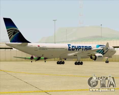 Airbus A330-300 EgyptAir pour GTA San Andreas vue intérieure