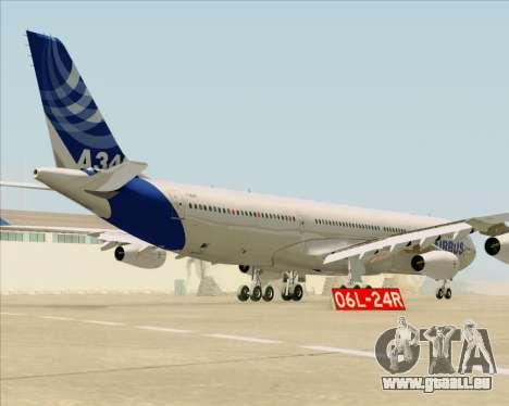 Airbus A340-311 House Colors pour GTA San Andreas vue de droite