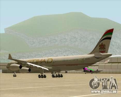 Airbus A340-313 Etihad Airways für GTA San Andreas rechten Ansicht