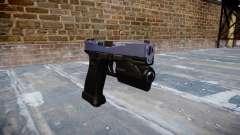 Pistolet Glock 20 tigre bleu