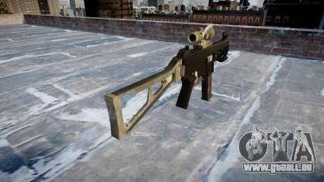 Pistolet UMP45 UNE armée de fans le cuir AU pour GTA 4 secondes d'écran