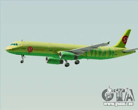 Airbus A321-200 S7 - Siberia Airlines pour GTA San Andreas roue
