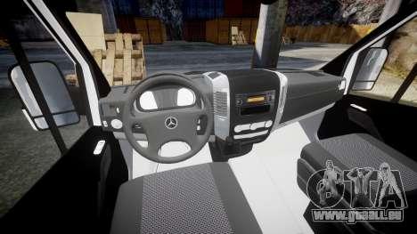 Mercedes-Benz Sprinter ARM Ambulance [ELS] pour GTA 4 Vue arrière