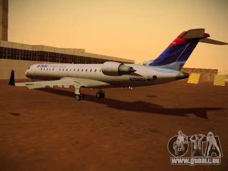 Bombardier CRJ-700 Delta Connection pour GTA San Andreas sur la vue arrière gauche