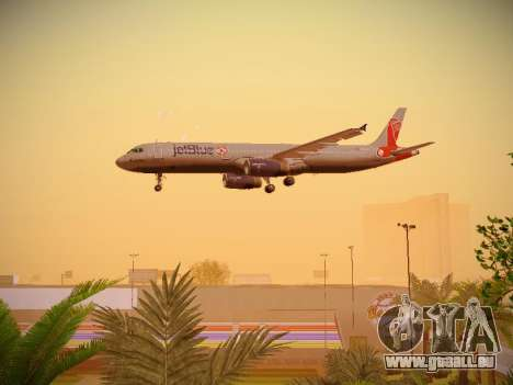 Airbus A321-232 jetBlue Boston Red Sox pour GTA San Andreas vue de dessous