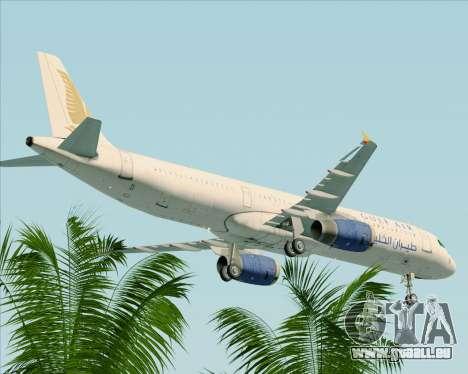 Airbus A321-200 Gulf Air für GTA San Andreas obere Ansicht