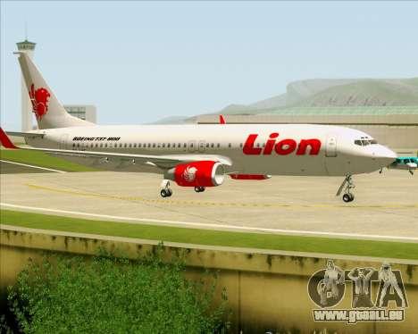 Boeing 737-800 Lion Air pour GTA San Andreas vue intérieure