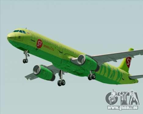 Airbus A321-200 S7 - Siberia Airlines pour GTA San Andreas vue intérieure