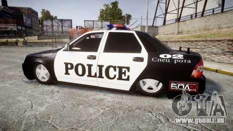 VAZ-2170 Priora Police pour GTA 4 est une gauche