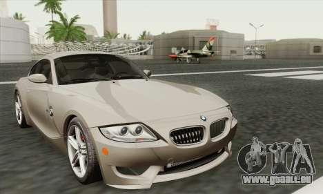 BMW Z4M Coupe 2008 Stock für GTA San Andreas