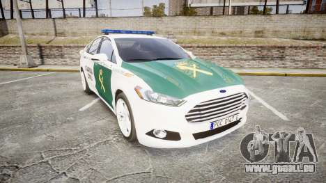 Ford Mondeo 2014 Guardia Civil Cops [ELS] pour GTA 4