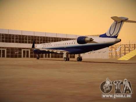Bombardier CRJ-700 United Express für GTA San Andreas rechten Ansicht